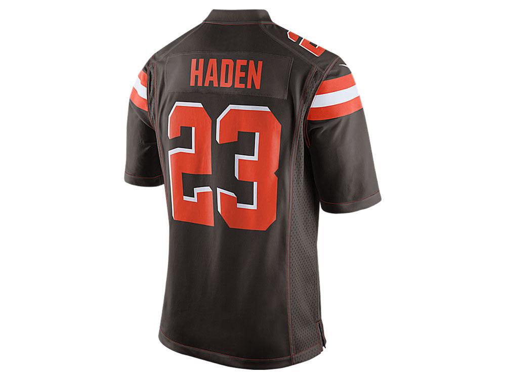 Men's Cleveland Browns Joe Haden Nike Brown Player Pride Name & Number T-Shirt