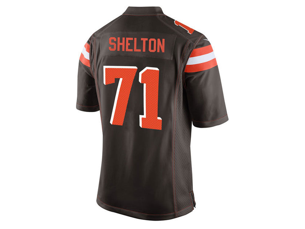 NFL Jersey's Men's Cleveland Browns Danny Shelton Nike Brown Game Jersey