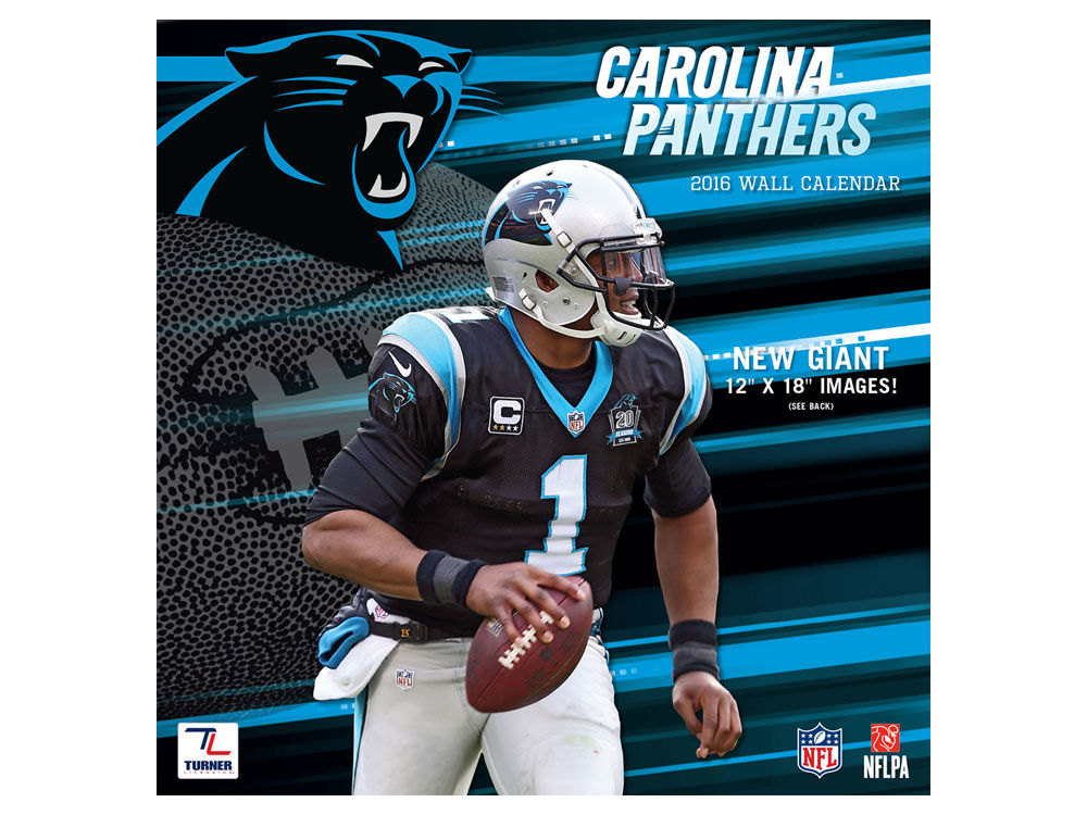 Carolina Panthers 2016 12x12 Team Wall Calendar | lids.com