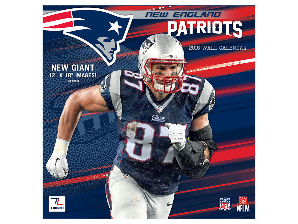 New England Patriots 2016 12x12 Team Wall Calendar | lids.com