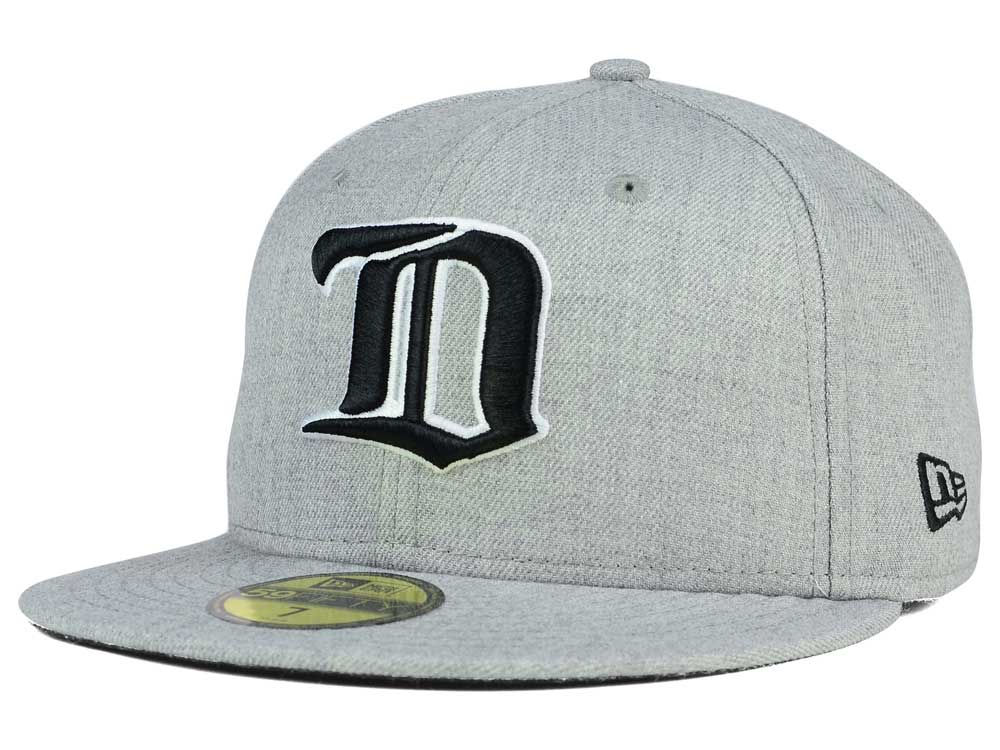 Men's New Orleans Saints New Era Heathered Gray Heather League Basic 59FIFTY Fitted Hat