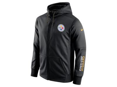 Pittsburgh Steelers Track Full Zip Jacket - Black