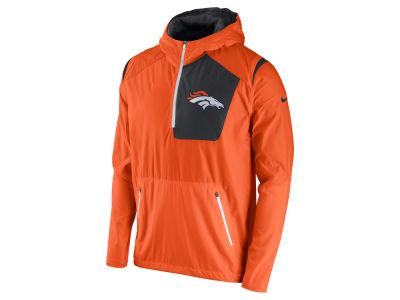 Men's Denver Broncos Cutter & Buck Navy WeatherTec Beacon V-Neck Windbreaker