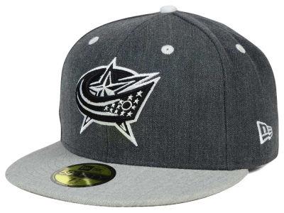 Columbus Blue Jackets New Era NHL Graph on Heather 59FIFTY Cap b1826ba41f9