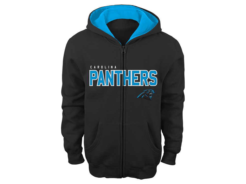Carolina Panthers NFL Kids Stated Full Zip Fleece Hoodie | lids.com
