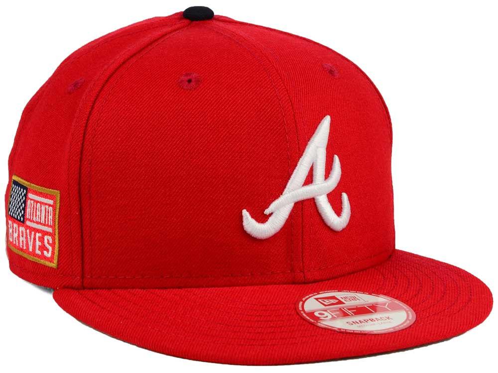 Atlanta Braves New Era MLB All American Patch 9FIFTY Snapback Cap ...