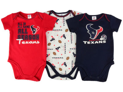 Youth Houston Texans Gray/Navy Blue 3-Piece T-Shirt Set