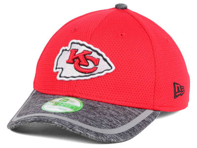 Mens Kansas City Chiefs New Era White Training Adjustable Visor