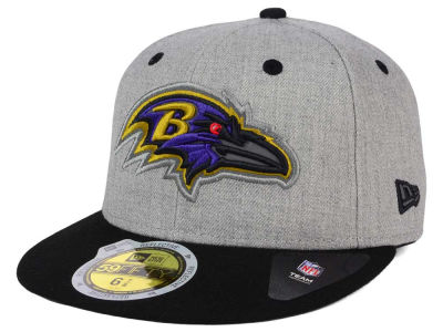 Youth Baltimore Ravens New Era Graphite/Black Gold Collection On Field 59FIFTY Fitted Hat