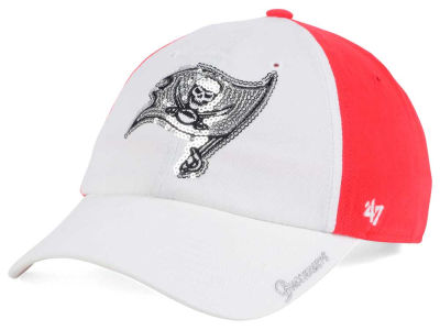 Women's Tampa Bay Buccaneers '47 Brand Red Sparkle Clean Up Adjustable Hat