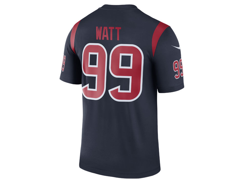 NFL Jersey's Men's Houston Texans J.J. Watt Nike Navy Color Rush Legend Jersey
