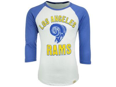 Women's Los Angeles Rams Majestic Navy Lead Play Raglan Long Sleeve T-Shirt