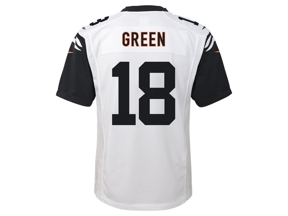 NFL Jersey's Youth Cincinnati Bengals AJ Green Nike White Game Jersey