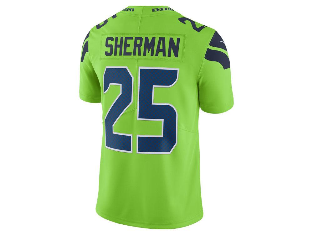 NFL Jersey's Women's Seattle Seahawks Richard Sherman Pro Line Pink Fashion Jersey