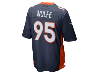 NFL Jersey's Men's Denver Broncos Derek Wolfe Nike Navy Game Football Jersey