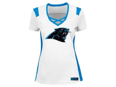 Women's Pittsburgh Steelers Majestic Pink Draft Me VII T-Shirt