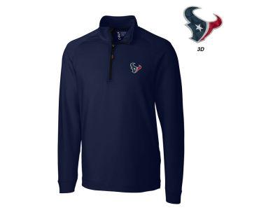 Mens Houston Texans Nike Navy Blue Top 1/2 Zip Jacket