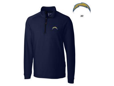 Mens San Diego Chargers Nike Navy Blue Top 1/2 Zip Jacket