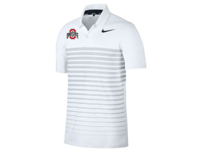 Nike ncaa men 39 s heathered stripe drifit polo apparel at for Ohio state polo shirt 3xl