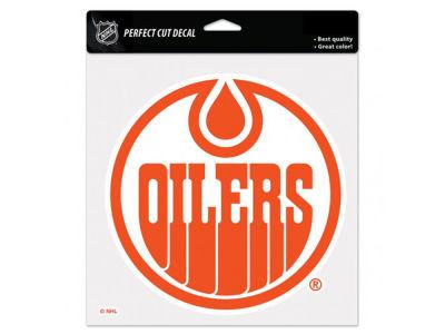 Edmonton oilers 8x8 die cut decal