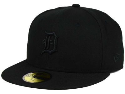 Detroit Tigers New Era MLB Black on Black Fashion 59FIFTY Cap