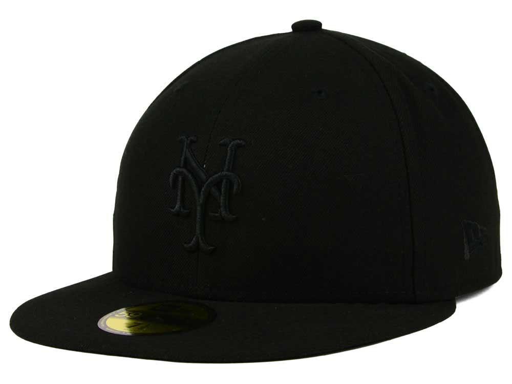 b664c21027c New York Mets New Era MLB Triple Black 59FIFTY Cap