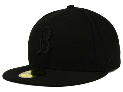 Boston Red Sox New Era MLB Black on Black Fashion 59FIFTY Cap