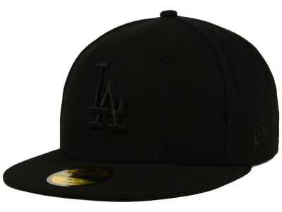 Los Angeles Dodgers New Era MLB Black on Black Fashion 59FIFTY Cap