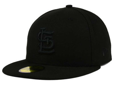 St. Louis Cardinals New Era MLB Triple Black 59FIFTY Cap