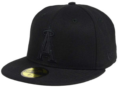 Los Angeles Angels New Era MLB Triple Black 59FIFTY Cap