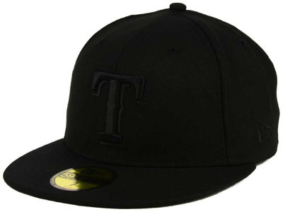 Texas Rangers New Era MLB Triple Black 59FIFTY Cap
