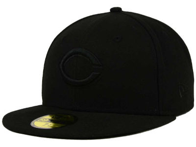 Cincinnati Reds New Era MLB Triple Black 59FIFTY Cap