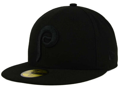Philadelphia Phillies New Era MLB Black on Black Fashion 59FIFTY Cap