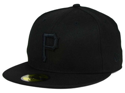 Pittsburgh Pirates New Era MLB Black on Black Fashion 59FIFTY Cap