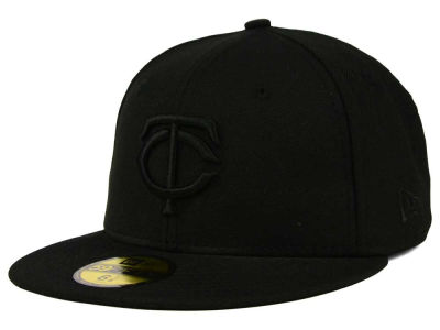 Minnesota Twins New Era MLB Black on Black Fashion 59FIFTY Cap