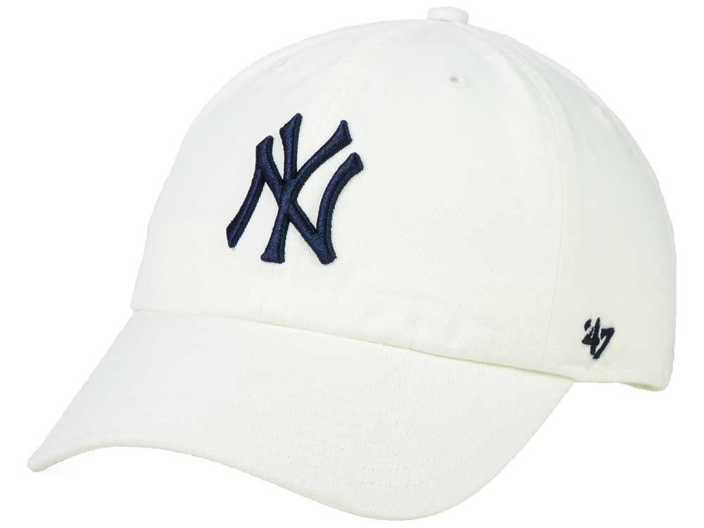 new york yankees 47 mlb white 47 clean up cap