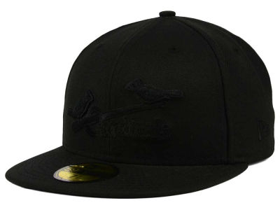 St. Louis Cardinals New Era MLB Black on Black Fashion 59FIFTY Cap