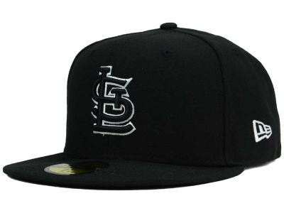 St. Louis Cardinals New Era MLB Black and White Fashion 59FIFTY Cap