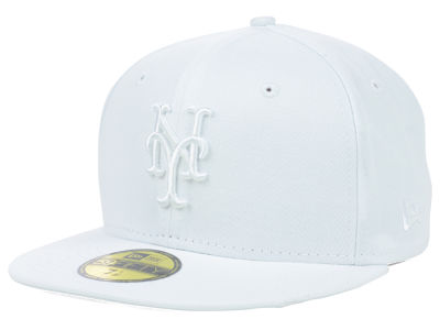 New York Mets New Era MLB White on White Fashion 59FIFTY Cap