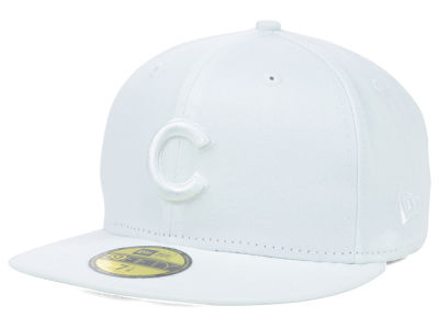Chicago Cubs New Era MLB Triple White 59FIFTY Cap