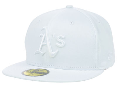 Oakland Athletics New Era MLB White on White Fashion 59FIFTY Cap