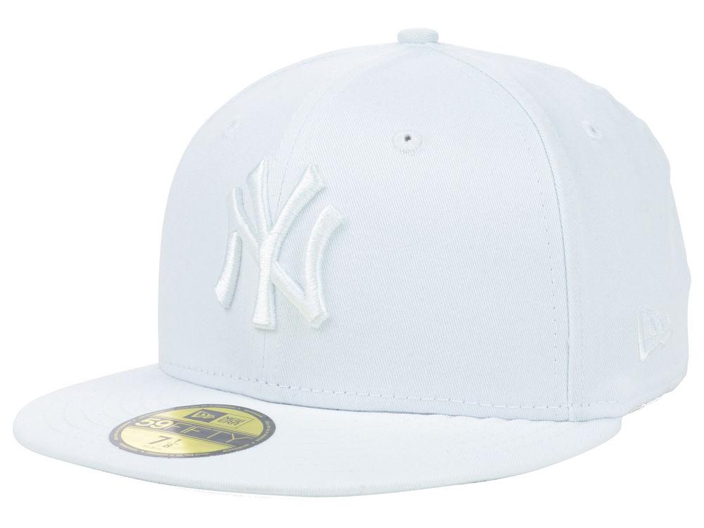 New York Yankees New Era MLB Triple White 59FIFTY Cap  eb593ac486f