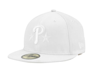 Philadelphia Phillies New Era MLB Triple White 59FIFTY Cap