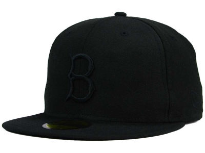 Brooklyn Dodgers New Era MLB Black on Black Fashion 59FIFTY Cap