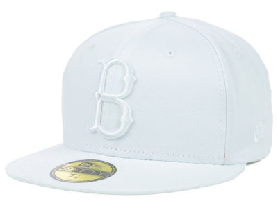 Brooklyn Dodgers New Era MLB White on White Fashion 59FIFTY Cap
