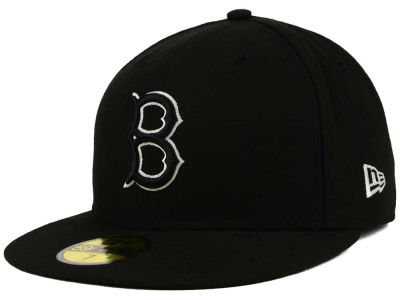 Brooklyn Dodgers New Era MLB Black and White Fashion 59FIFTY Cap