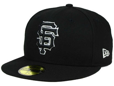 San Francisco Giants New Era MLB Black and White Fashion 59FIFTY Cap