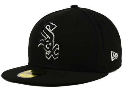 Chicago White Sox New Era MLB Black and White Fashion 59FIFTY Cap