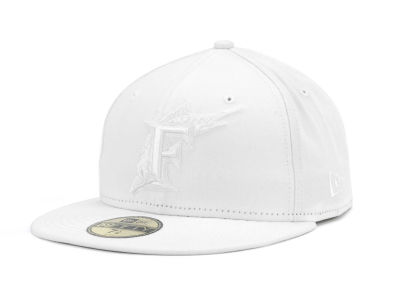 Florida Marlins New Era MLB Triple White 59FIFTY Cap