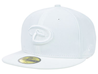 Arizona Diamondbacks New Era MLB White on White Fashion 59FIFTY Cap